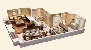 恒大雅苑 1室1厅1卫 70平方米 精装