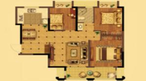 荣盛花语城 3室2厅1卫 87平方米 毛坯