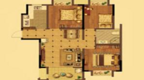 荣盛花语城 3室2厅1卫 101平方米 毛坯