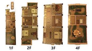 御景园 4室3厅2卫 172平方米 毛坯