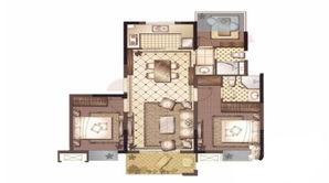 御澜府 3室2厅2卫 90平方米 毛坯