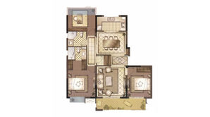 御澜府 3室2厅2卫 113平方米 毛坯