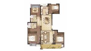 御澜府 4室2厅2卫 129平方米 毛坯