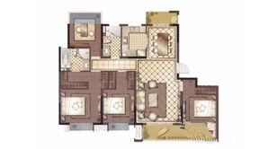 御澜府 4室2厅2卫 141平方米 毛坯
