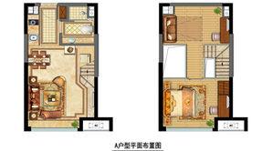 金地中心菁华 2室2厅1卫 44平方米 精装