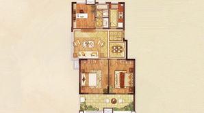 朗诗万都玲珑樾 3室2厅1卫 88平方米 精装