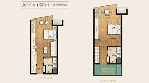 升龙公园道 2室1厅2卫 50平方米 毛坯