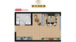 锦程公馆 1室1厅1卫 36平方米 毛坯