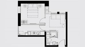 证大御湖国际 1室1厅1卫 43平方米 毛坯