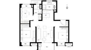 华侨城翡翠天域 3室2厅1卫 89平方米 精装