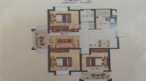 双湖星城 3室2厅1卫 113平方米 毛坯