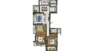 天泽苑 3室2厅2卫 129平方米 精装