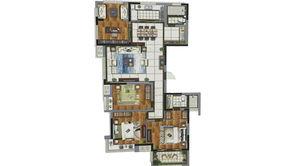 天泽苑 4室2厅2卫 145平方米 精装