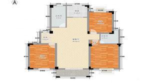 家天下 3室2厅2卫 103平方米 毛坯