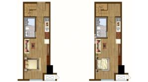 绿地理想城 2室2厅2卫 47平方米 精装
