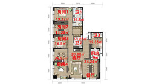 金陵凤栖园 4室2厅3卫 317平方米 毛坯