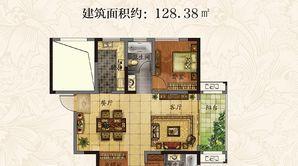 丰盛·西城逸景 3室2厅2卫 128.38平方米 毛坯
