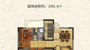 丰盛·西城逸景 3室2厅1卫 100.9平方米 毛坯