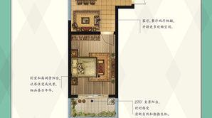 先锋学府 1室1厅1卫 47平方米 毛坯