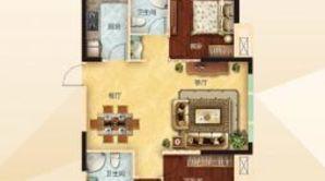 力拓悦城 4室2厅2卫 142平方米 毛坯