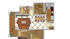 东城尚品 3室2厅2卫 129平方米 毛坯