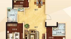 力拓悦城 3室2厅2卫 136平方米 毛坯