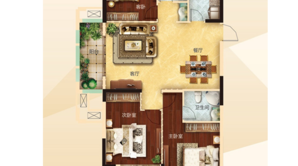 力拓悦城 3室2厅2卫 126平方米 毛坯