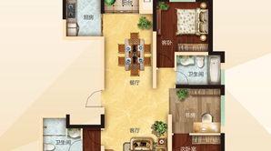 力拓悦城 4室2厅2卫 142.51平方米 毛坯