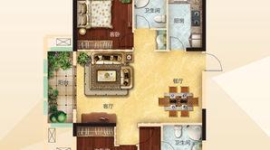 力拓悦城 3室2厅2卫 126.09平方米 毛坯