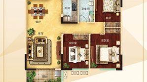力拓悦城 3室2厅1卫 114.02平方米 毛坯