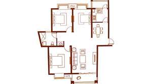 北江锦城 3室2厅1卫 118平方米 毛坯