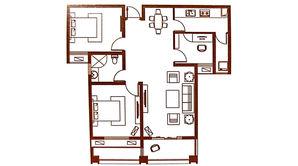 北江锦城 3室2厅1卫 105平方米 毛坯