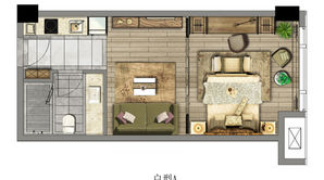 汉中公馆 1室1厅1卫 60.36平方米 精装