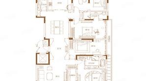 滟紫台 4室2厅3卫 262平方米 精装