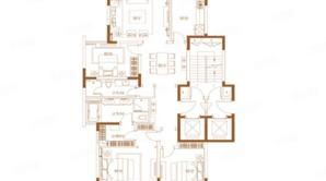 滟紫台 3室2厅2卫 185平方米 毛坯