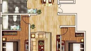 通银·森林公馆 3室2厅2卫 118平方米 毛坯