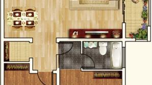 通银·森林公馆 3室2厅2卫 125平方米 毛坯