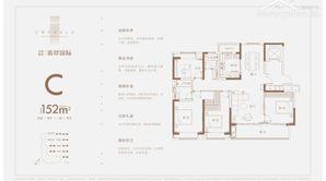 万科悦达翡翠国际 4室2厅2卫 152平方米 毛坯