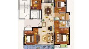通银天御 3室2厅2卫 128.67平方米 毛坯