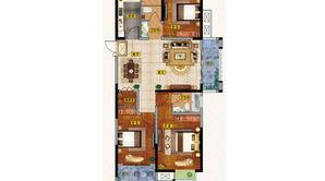 通银天御 3室2厅2卫 126.13平方米 毛坯