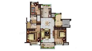 碧桂园世纪云谷 3室2厅2卫 115平方米 毛坯