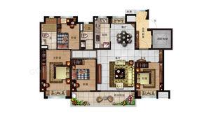 碧桂园世纪云谷 4室2厅2卫 140平方米 毛坯