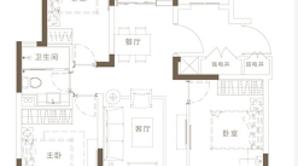万科悦达翡翠书院 3室2厅1卫 95平方米 毛坯