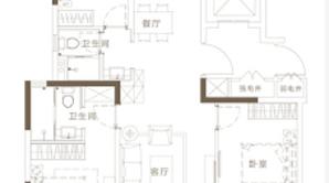 万科悦达翡翠书院 3室2厅2卫 110平方米 毛坯