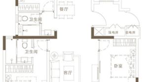 万科悦达翡翠书院 3室2厅1卫 120平方米 毛坯