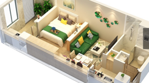 盐城创客城 1室1厅1卫 32平方米 毛坯