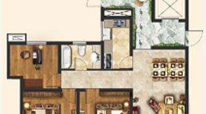 盐海琥珀湾 3室2厅1卫 104平方米 毛坯
