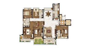 碧桂园·天境 5室2厅3卫 280平方米 毛坯