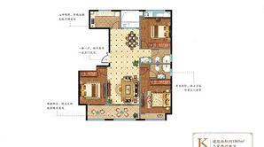 奥体壹號 3室2厅2卫 138.9平方米 毛坯