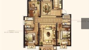 万达华府·大公馆 3室2厅2卫 154平方米 毛坯